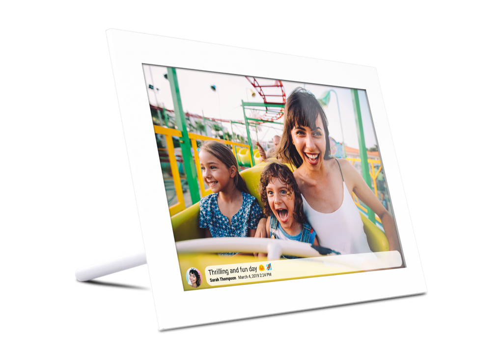 Kiki&Co DIgital Photo Frame White Fun Day